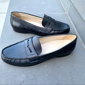 COLE HAAN penny loafers flats black leather 9.5
